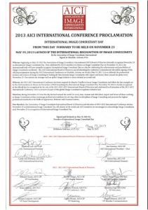 Proclamation – AICI International Image Consultants Day