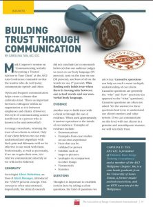 Building Trust Through Communication