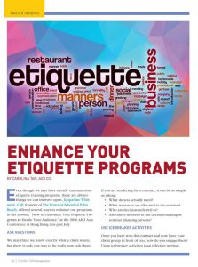 Enhance Your Etiquette Programs