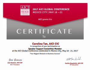 2017 AICI Global Conference: Speaker Support