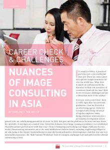 Career Check & Challenges: NUANCES OF IMAGE CONSULTING IN ASIA