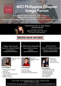 MERGING IMAGE & MEDIA: Image Forum_AICI Philippine Chapter