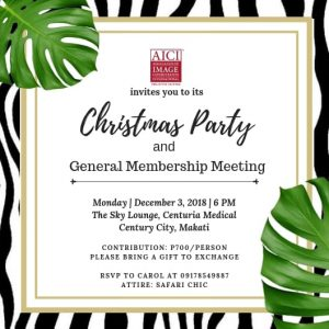 AICI Philippine Chapter GMM & Christmas Party 2018!