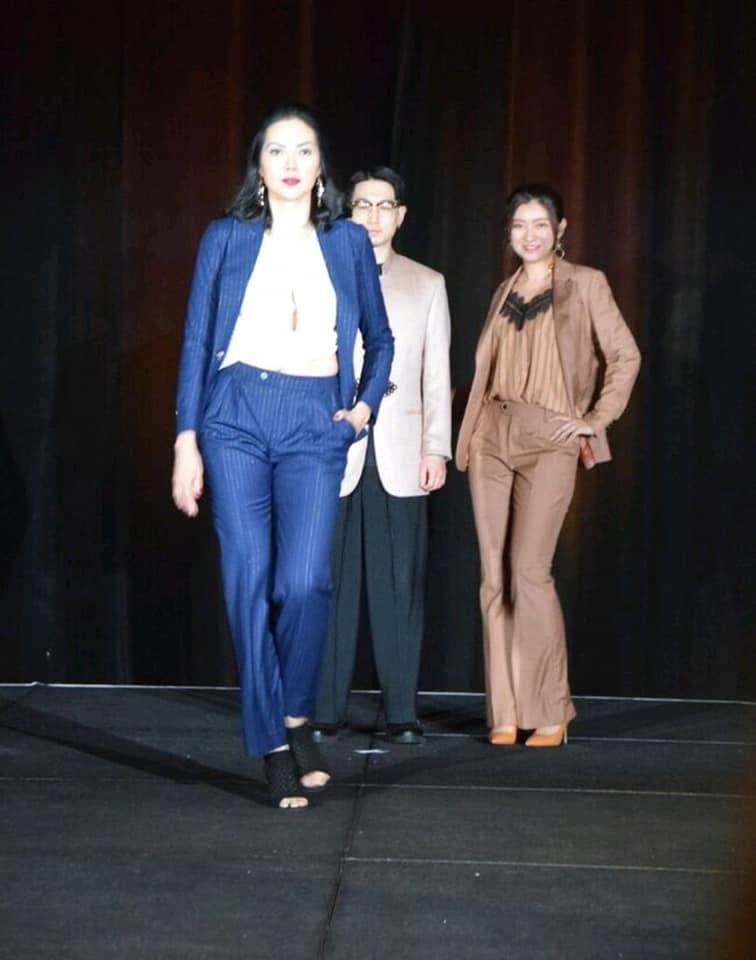At the #AICIWalksTheRunway2019 Fashion Show