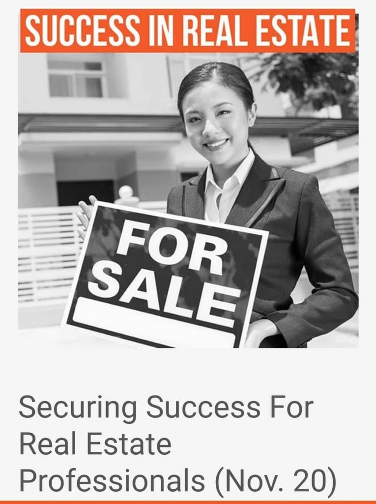 SECURING SUCCESS FOR REAL ESTATE PROFESSIONALS